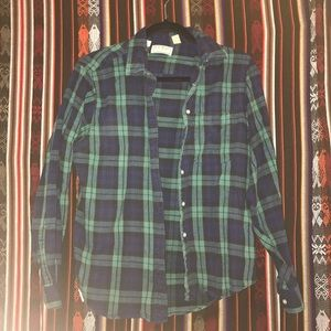 LL Bean Girls Flannel Size 12